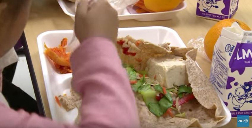 La première cantine scolaire végétarienne à New York