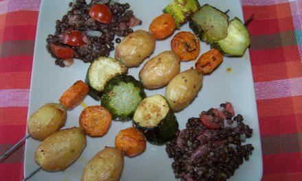 Brochettes de légumes en marinade (Recette à la Une)