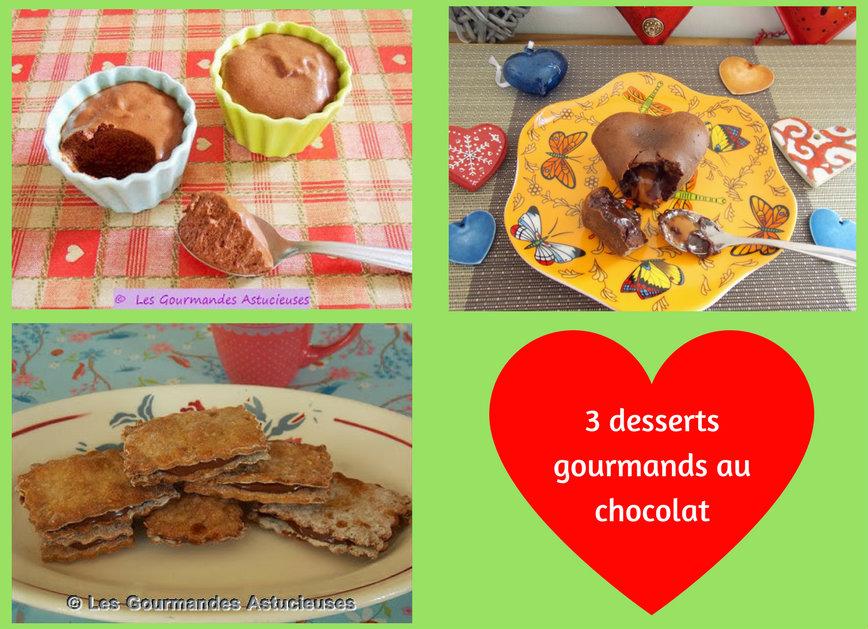 3 recettes gourmandes au chocolat (Recettes à la Une)