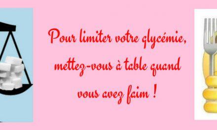 Pour limiter votre glycémie, mettez-vous à table quand vous avez faim !