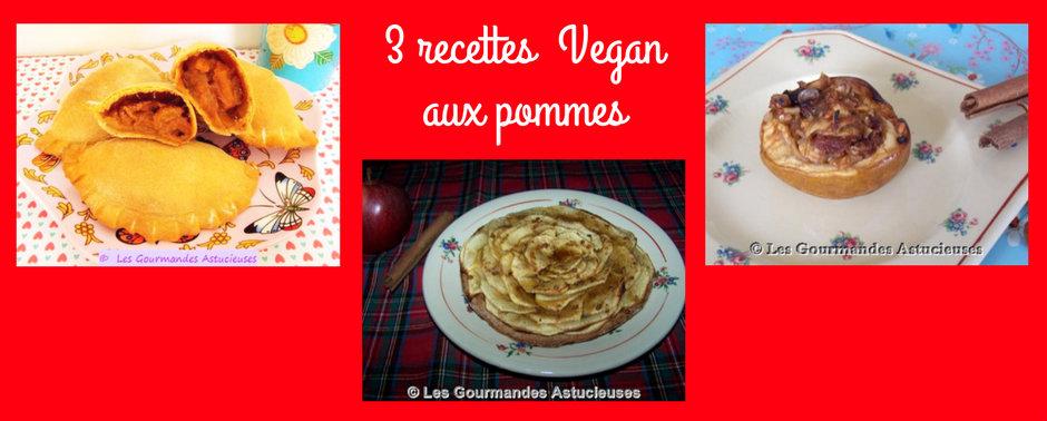 3 recettes Vegan aux pommes (Recettes à la Une !)