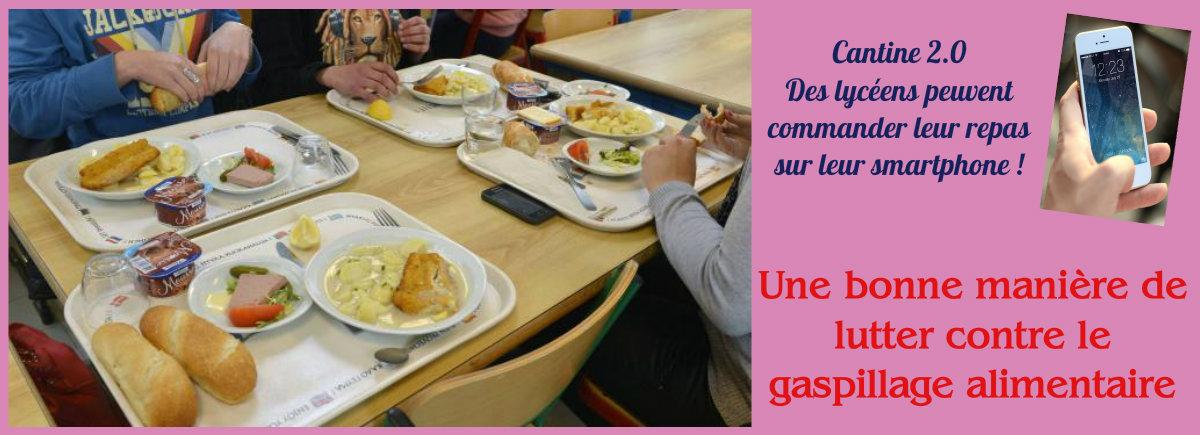 Des repas de cantine commandés sur Smartphone pour lutter contre le gaspillage (Actu)