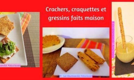 Crackers, craquettes et gressins faits maison (Recettes à la Une)