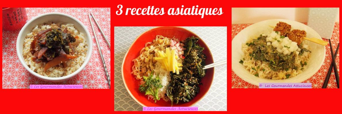 3 recettes asiatiques (Recettes à la Une)