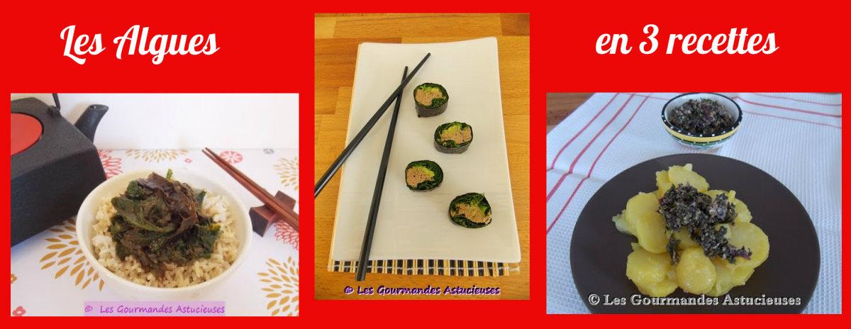 Les algues en 3 recettes (Recettes à la Une)