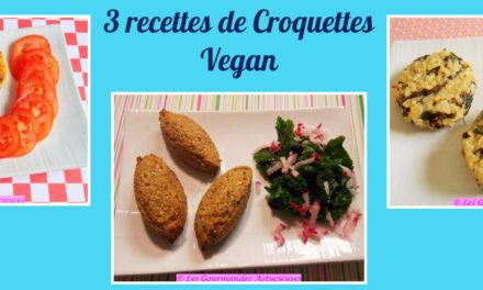 3 recettes de Croquettes Vegan (Recettes à la Une !)