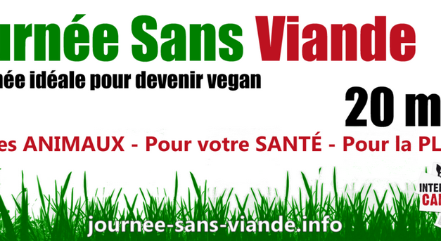 Journée Sans Viande, le 20 mars 2014