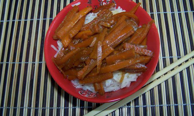 Carottes glacées à la sauce soja (Recette à la Une)