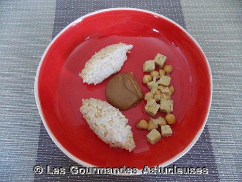 Pois chiches et Tofu sauce au miso (Recette à la Une)