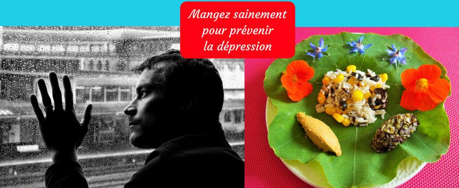Mangez sainement pour prévenir la dépression