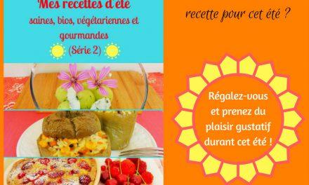"""Sortie de """"Mes recettes d'été saines, bios, végétariennes et gourmandes (Série 2)"""" : mon nouveau livre !"""