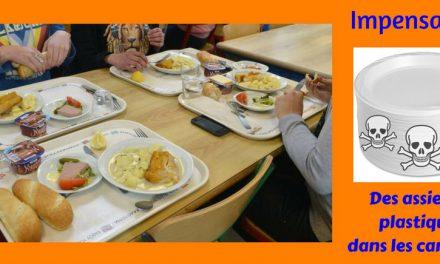 Impensable ! Des assiettes plastiques dans les cantines (Info du jour)