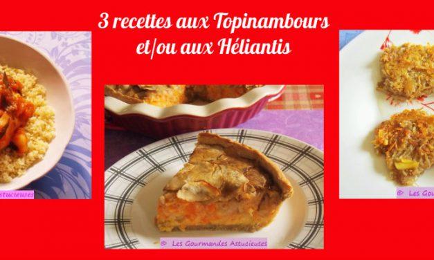 3 recettes aux Topinambours et/ou aux Héliantis (Recettes à la Une !)