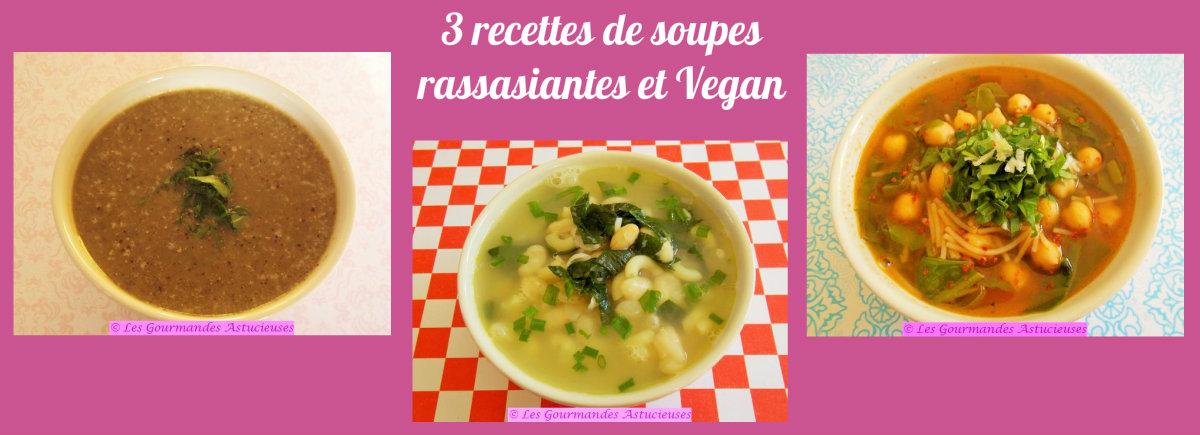 3 recettes de soupes rassasiantes (Recettes à la Une !)