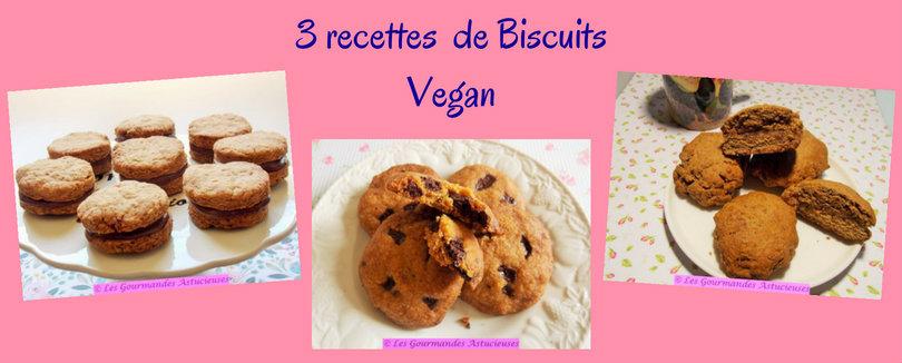 3 recettes de Biscuits Vegan (Recettes à la Une)