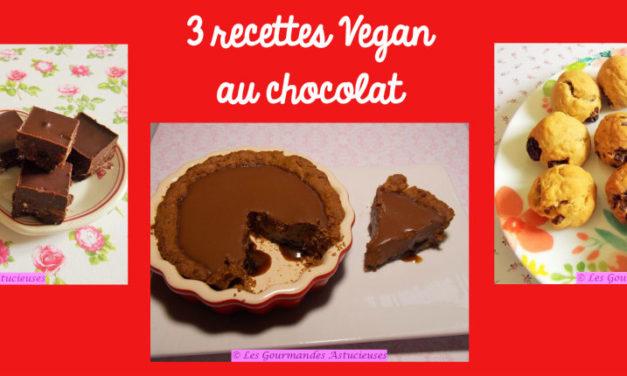 3 recettes Vegan au chocolat (Recettes à la Une !)
