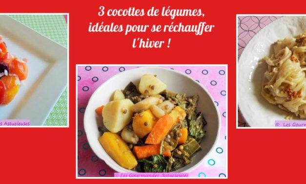 3 cocottes de légumes, idéales pour se réchauffer l'hiver ! (Recettes à la une !)