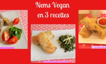 Nems Vegan en 3 recettes (Recettes à la Une !)