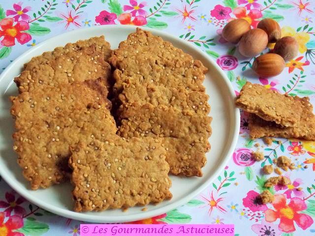 Biscuits aux noisettes, au quinoa et au sésame (Vegan) 1185
