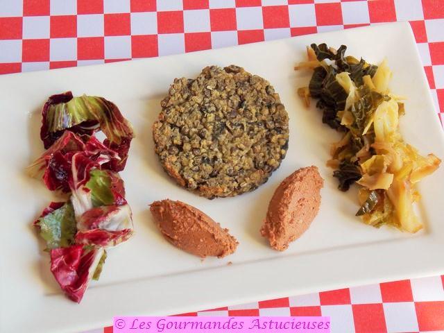 Steaks végétaux aux lentilles et sauce à la noix (Vegan) 1096