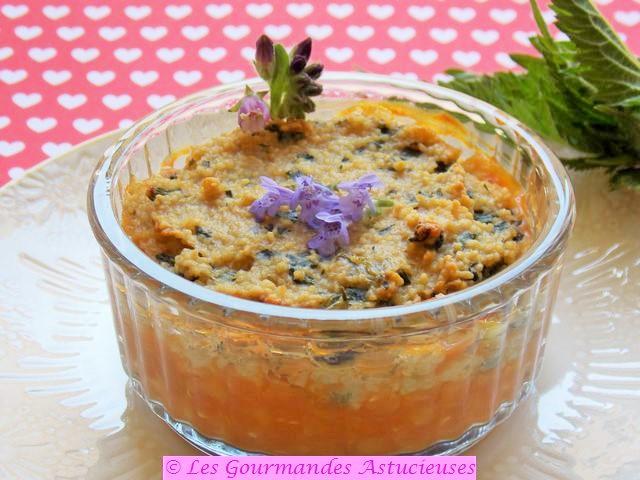 Gâteau de semoule salé aux orties (Vegan) 8162