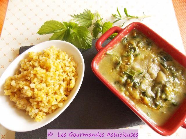 Gratin de Blettes, sauce blanche _ l'infusion d'orties, d'_gopode et de sarriette (Vegan) 2412