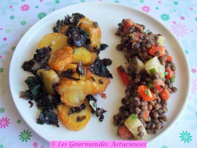 Pommes de terre sautées aux orties et aux algues (Vegan) 0414