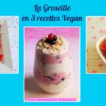 La Groseille en 3 recettes Vegan