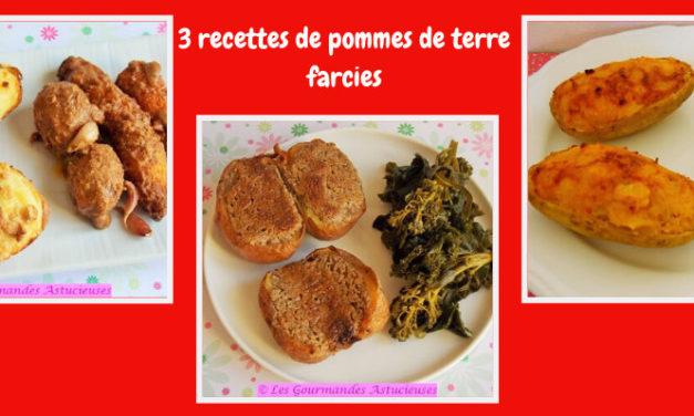 3 recettes de pommes de terre farcies (Vegan)
