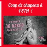 Coup de chapeau à PETA !